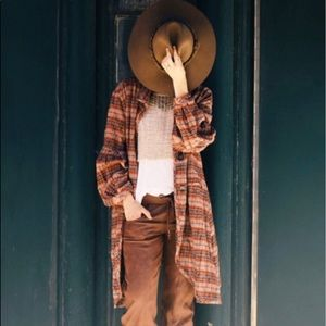 NEW LISTING ‼️ FREE PEOPLE Plaid Jacket NWOT ‼️